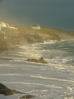 porthleven, start of a storm