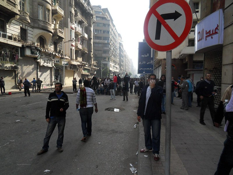 People Prepare Makeshift Barricades - Angry Friday in Talaat Harb in Downtown Cairo