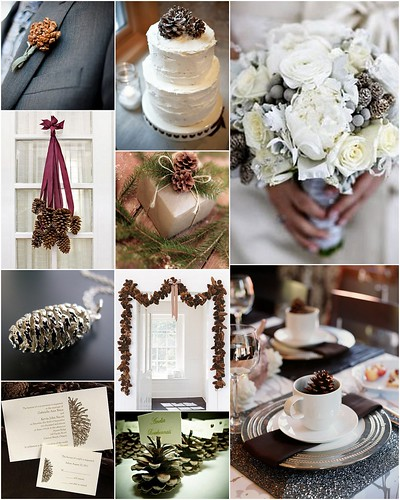 Pinecone wedding style inspiration by Lea Ann Belter Bridal