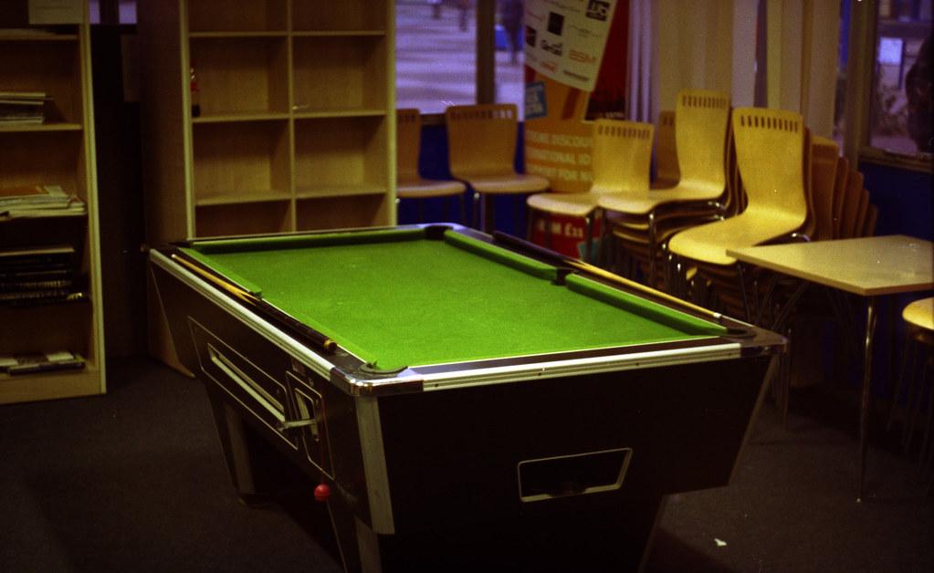 Pool table (Photo taken with Zenit-E)