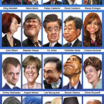 G20 heads of government - Caricatures (November 2011)