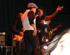 Rik and Sharon Jones onstage in Santa Cruz