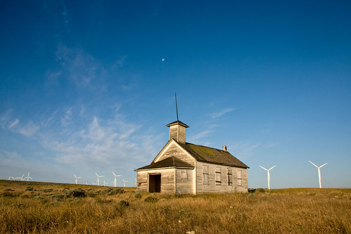 school moon house buildings washington windmills dot