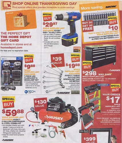 Home depot black friday 2011 tool deals for Deals by depot