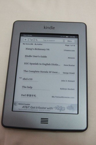 Amazon Kindle touch 中文測試
