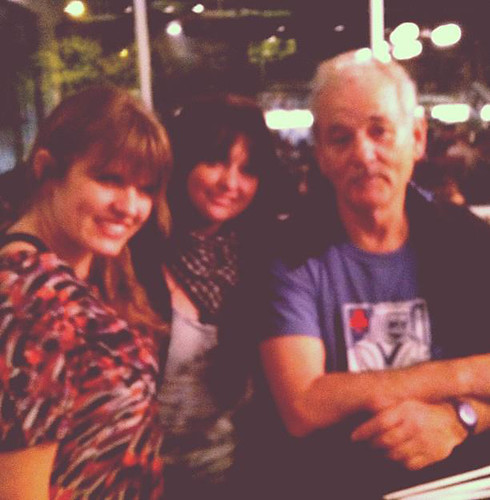 My friend Cassandra, me and Bill Murray. Drunk at 24 Diner during SXSW 2012.