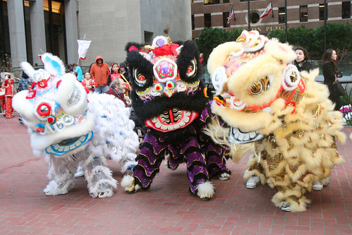 Group of Chinese Lions