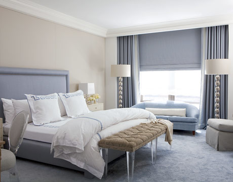 Calm gray or greige blue bedroom swiss coffee by benj flickr