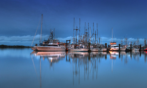 morning reflection sunrise boats harbor bc richmond hdr steveston colorphotoaward ringexcellence