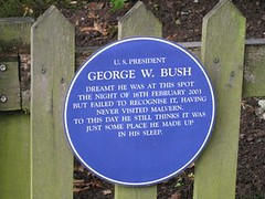 Photo of George W. Bush blue plaque
