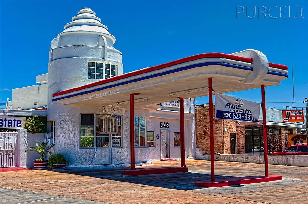 Old Art Deco Filling Station