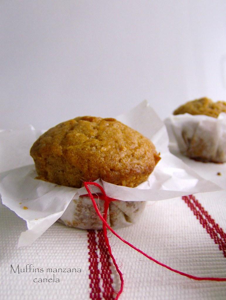 Muffins manzana~canela