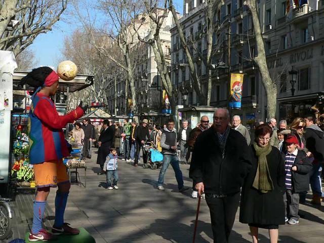 Atraksi Jalanan di Barcelona