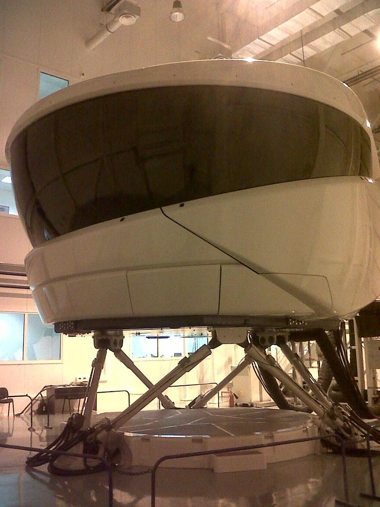 The SSJ100 Full Flight Simulator being assembled at SJI Tr