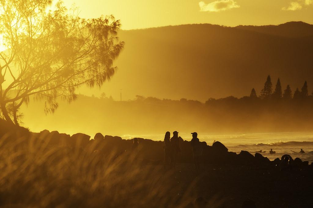 Byron Bay as the sun goes down