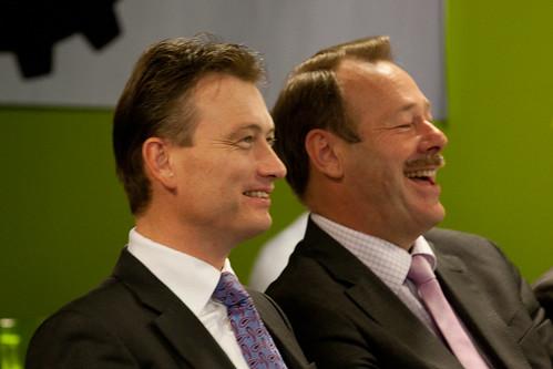 staatssecretaris Zijlstra en Hans van der Vlugt