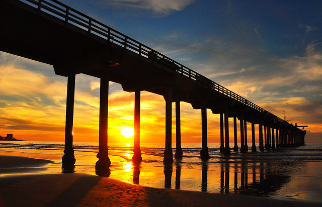 Sunset At Scripps Pier