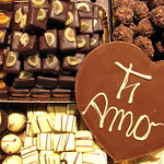 Feria de Chocolate en Santa Croce, Florencia, Italia.