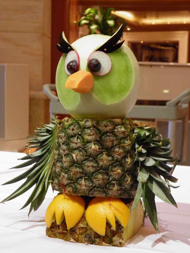 Owl Fruit and Vegetable Carving