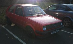 automobile, volkswagen, vehicle, volkswagen golf mk1, volkswagen golf mk2, city car, compact car, land vehicle, hatchback,