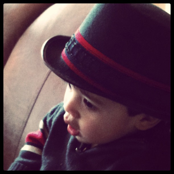 Instagram - Owen and his new top hat