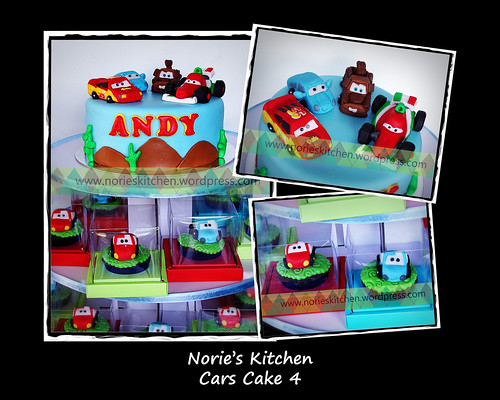 Norie's Kitchen - Cars Cake 4 with Francesco by Norie's Kitchen