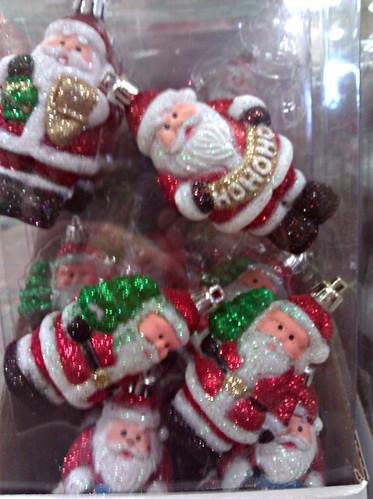 Santa tree ornaments at a Home Depot in DC, November 20, 2011