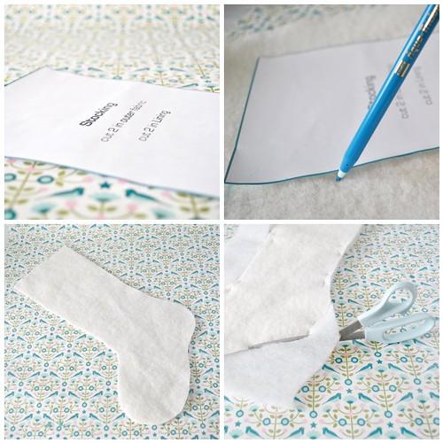 Embellished stocking steps 1-4