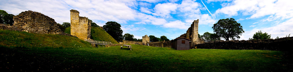 Pickering Castle Panorama, North Yorkshire