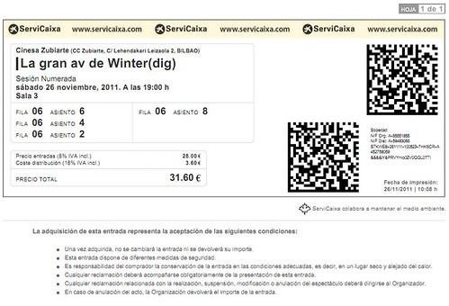 ENTRADAS CINE LA GRAN AVENTURA DE WINTER by LaVisitaComunicacion