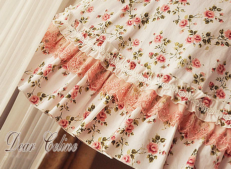Dear_Celine_Summer_A_Line_Pinkish_Rose_Cotton_Lolita_Dress_4