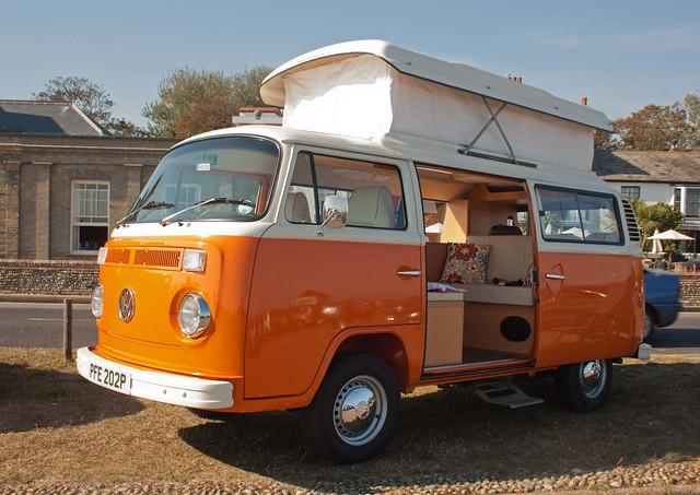 1976 volkswagen t2 camper van explore trigger 39 s retro. Black Bedroom Furniture Sets. Home Design Ideas