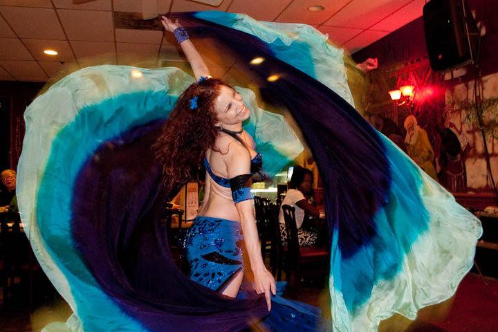 April hafla blue costume