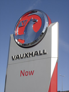 London: Vauxhall Dealership Sign