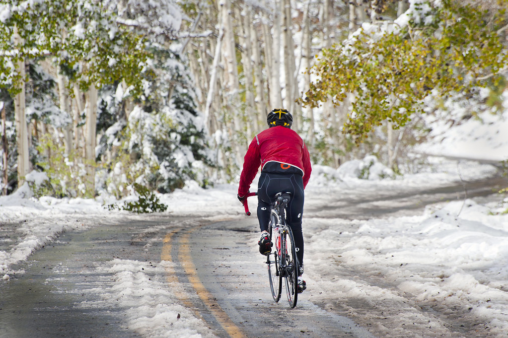 Guardsman Pass: Bicycling in Snow