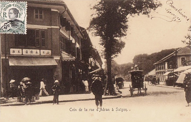 SAIGON - Coin de la rue d'Adran