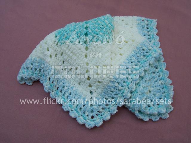 Simplicidad manta para beb al crochet flickr photo - Mantas de ganchillo para sofas ...