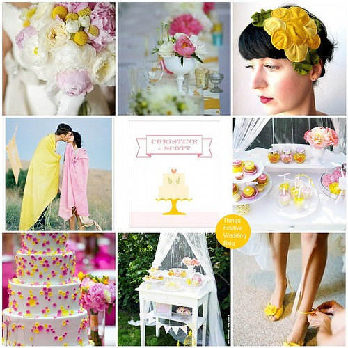 Pink and yellow garden wedding theme whimsically sweet for Pink and yellow wedding theme ideas