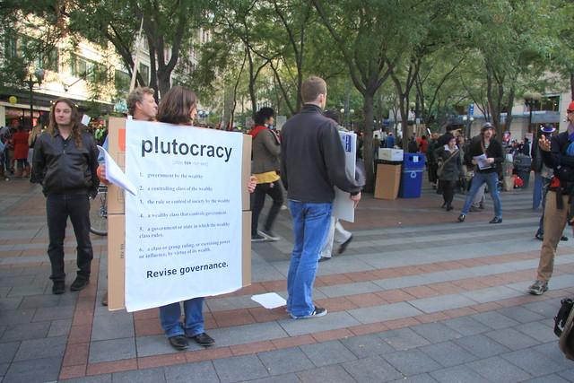 Header of plutocracy