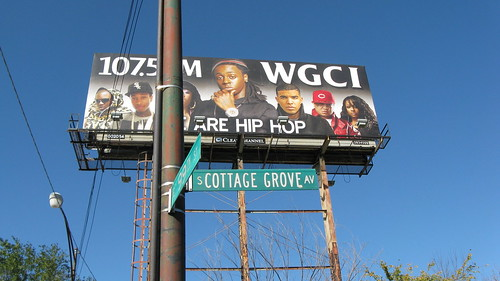 WGCI FM Radio billboard at East 99th Street and South Cottage Grove Avenue.  Chicago Illinois USA.  Saturday, October 15th, 2011. by Eddie from Chicago