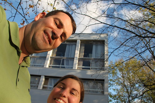 Matt and Pamela at Benefactors - scene of infamous WUSAC cocktail party...