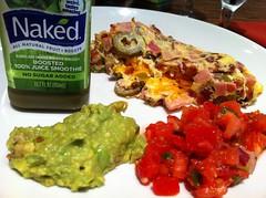 vegetarian food(0.0), produce(0.0), meal(1.0), breakfast(1.0), vegetable(1.0), dip(1.0), food(1.0), dish(1.0), guacamole(1.0), cuisine(1.0),