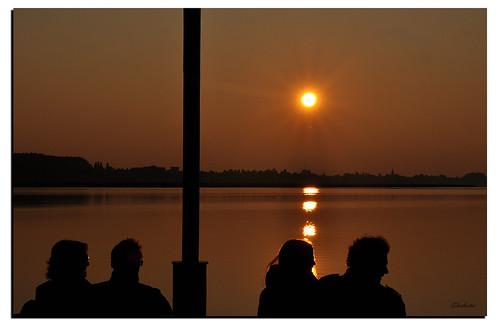 sunset people backlight reflections river tramonto fiume persone mantova riflessi controluce ghostbuster mincio nikond90 gigi49