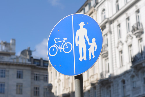 Vienna, Bicycle/Pedestrian Sign