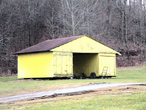 yellow shed