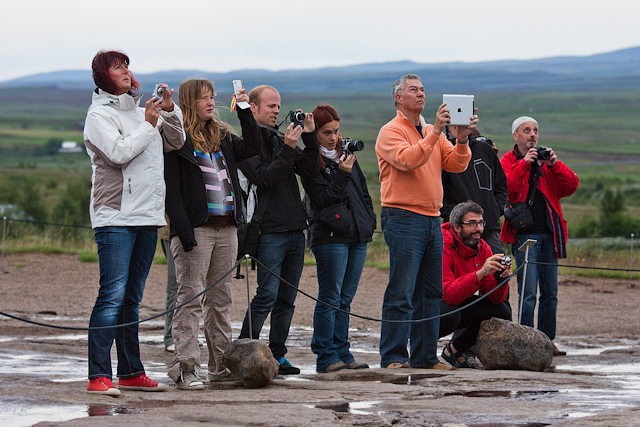 iPad Photographer - Geysir - Iceland