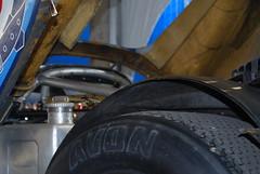 Porsche 917K 1971 bolt-on aluminum roll-over structure above engine, rear tire, big tank, etc.
