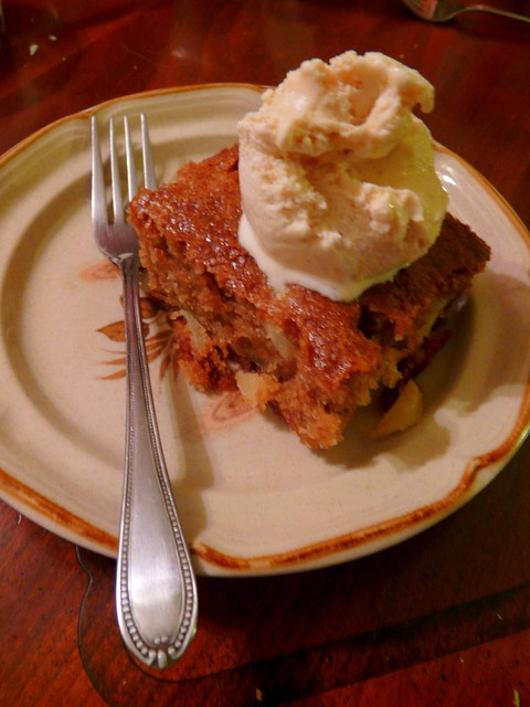 Hot Caramel Apple Cake & Pumpkin Spice Ice Cream | Flickr - Photo ...