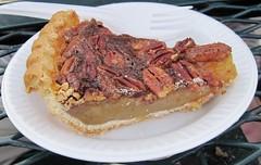 pie, meal, breakfast, baked goods, pecan pie, meat, food, dish, cuisine,