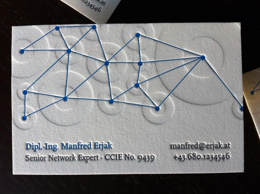Networking Letterpress Business Card